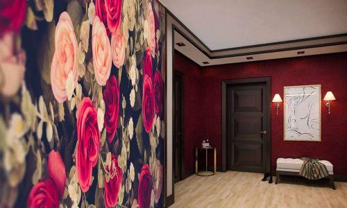Фотообои в интерьере прихожей с фото - Фотообои Розы