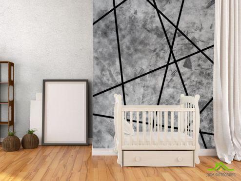 обои Геометрия Фотообои Черные треугольники