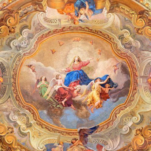 обои на потолок Фотообои Античная фреска на потолок