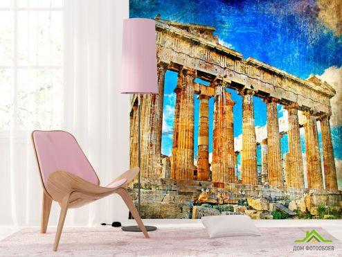 обои Винтаж Фотообои Храм Афины , Греция