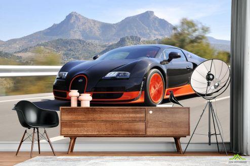 Фотообои Транспорт по выгодной цене Фотообои черно-красный автомобил в движении
