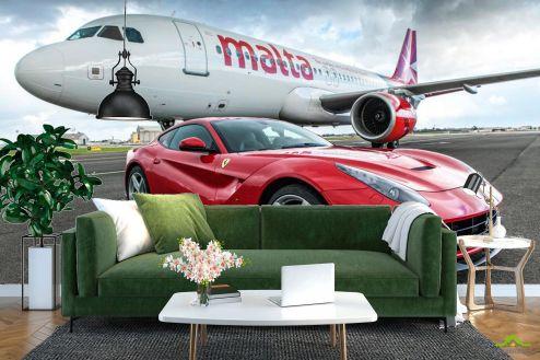 Самолеты Фотообои Самолет и автомобиль купить