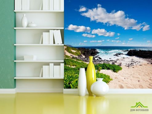 Море Фотообои Пустынный морской пляж
