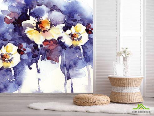 обои Цветы Фотообои Акварельные цветы