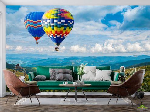 Фотообои Природа по выгодной цене Фотообои воздушные шары в горах