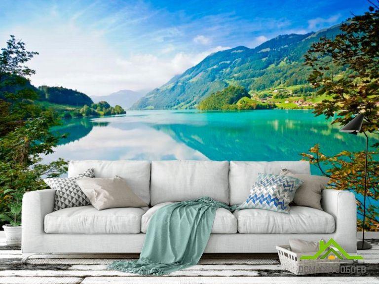 Фотообои Бесконечность гор, воды
