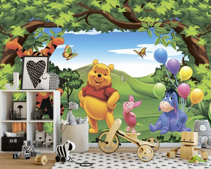 Фотообои Винни пух и его друзья