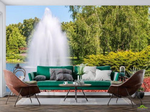 Природа Фотообои фонтан в парке