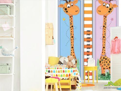 обои для малышей Фотообои 2 жирафа