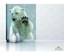Фотообои белый медведь под водой