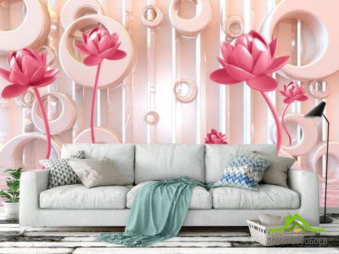 обои цветы 3d Фотообои Стереоскопические цветы