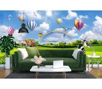 Фотообои Воздушные шары над полем