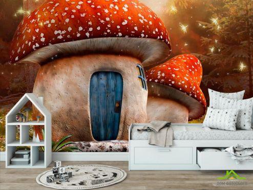 обои для девочек Фотообои Сказочный гриб