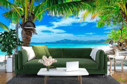 Пляж Фотообои Пляж с пальмами