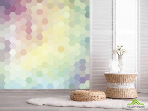 Геометрия Фотообои Разноцветные шестиугольники