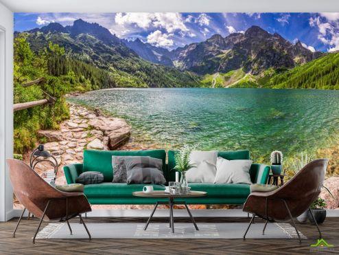 Фотообои Природа по выгодной цене Фотообои камни, горы и озеро