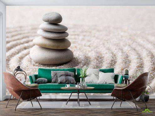 Природа Фотообои камни на песке
