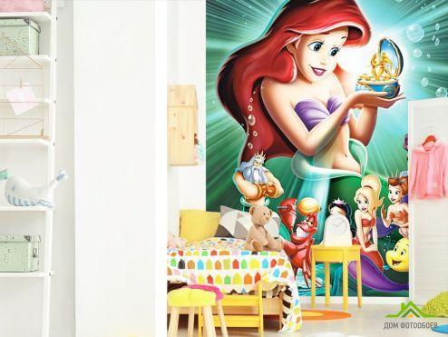 обои в детскую Фотообои Русалочка и принцессы