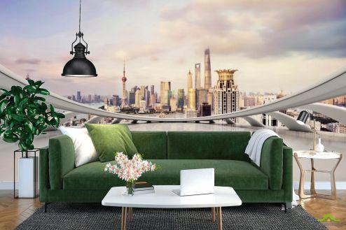 Фотообои Вид из окна по выгодной цене Фотообои Вид на Дубай