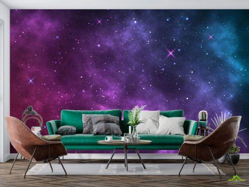 Космос Фотообои Фиолетовое звёздное небо