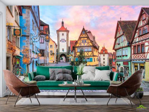 Улицы Фотообои Старый город в Баварии