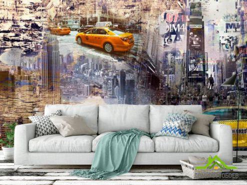 Эксклюзивные обои Фотообои Такси арт