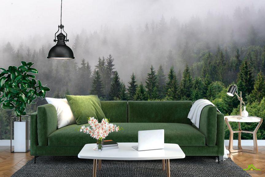 Фотообои Лес в тумане
