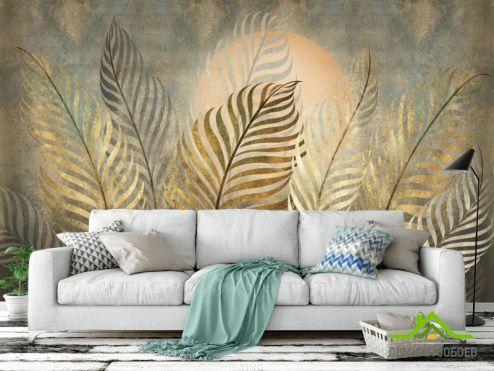 Эксклюзивные фотообои по выгодной цене Фотообои Золотые листья