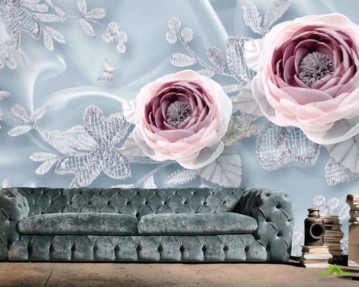 Фотообои Тканевые 3д цветы