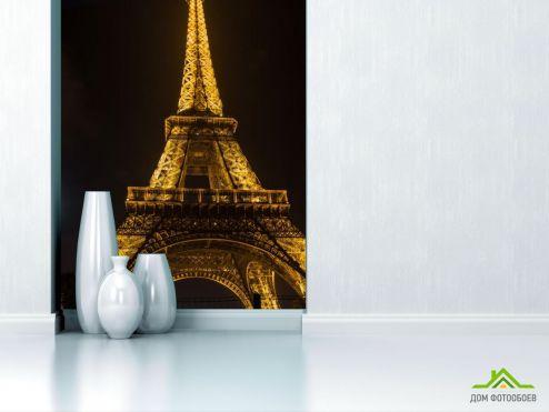 обои Париж Фотообои Эйфелева башня в огнях