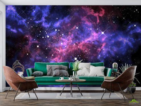 Космос Фотообои сияние звёзд в космосе