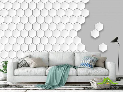 обои Геометрия Фотообои Пчелиные соты