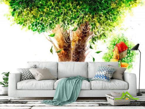 обои Иллюстрации Фотообои Дерево