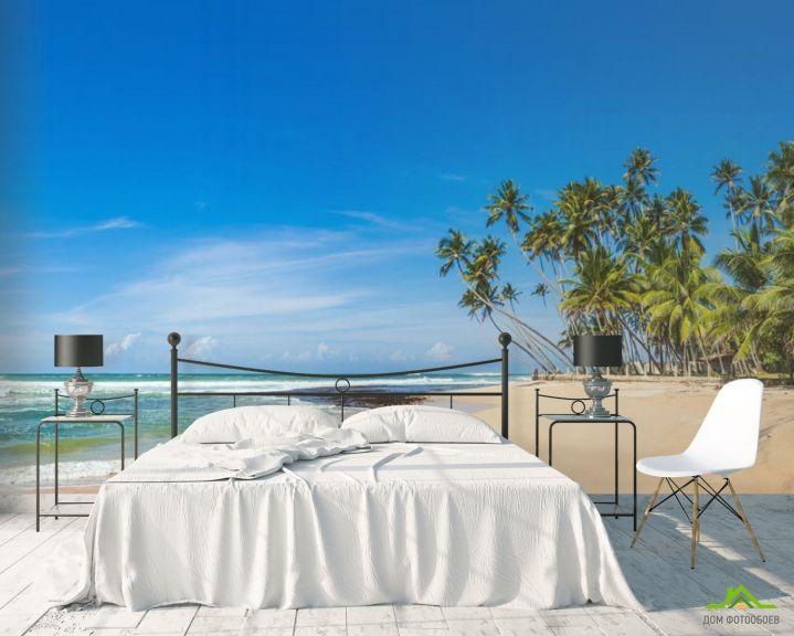 Фотообои пальмы на белом песке