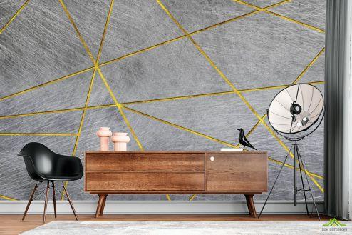 Геометрия Фотообои Треугольники на бетоне