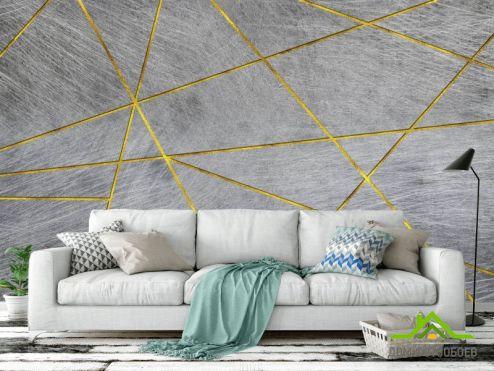 обои Геометрия Фотообои Треугольники на бетоне