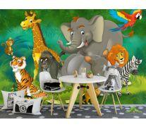 Фотообои Животные в джунглях