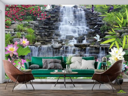 Природа Фотообои Каменный водопад