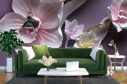 3Д  Фотообои Фарфоровые цветы