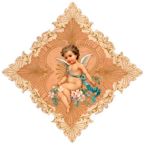 Купидоны с цветами Фотообои Ангел с цветами