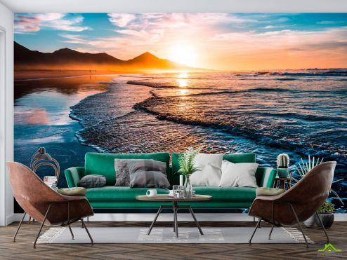 Фотообои Море по выгодной цене Фотообои Горы и солнце над морем
