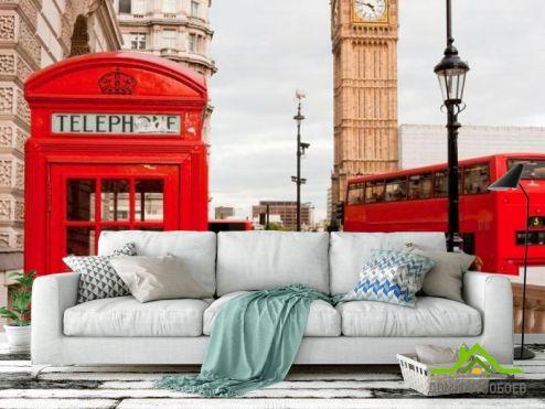 Красные обои Фотообои Лондон