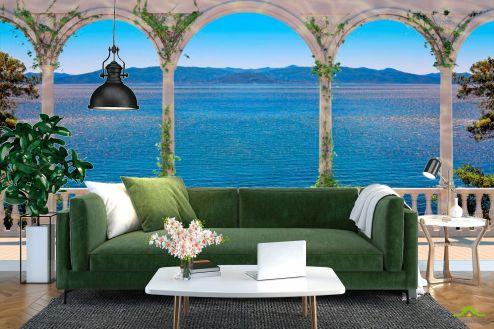 Фрески Фотообои Арки с видом на море