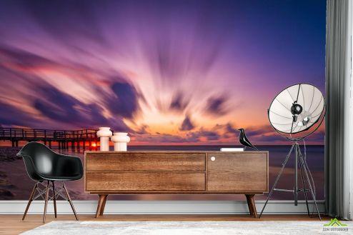 Фотообои Море по выгодной цене Фотообои Размытый закат над морем