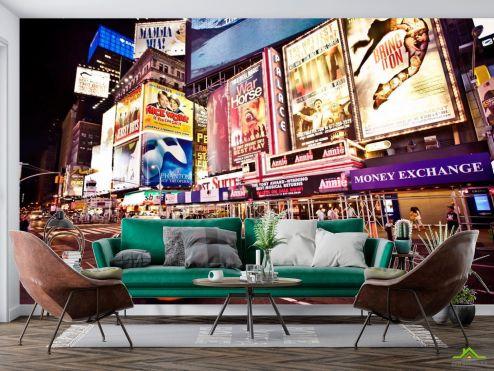 Нью Йорк Фотообои Реклама, такси, New York