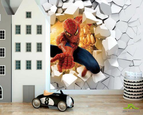 обои в детскую Фотообои Человек паук