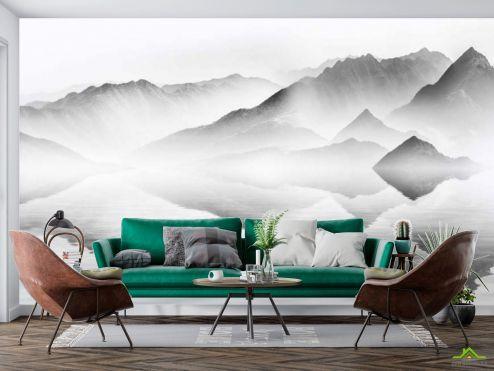 Фотообои в японском стиле по выгодной цене Фотообои Туманные горы
