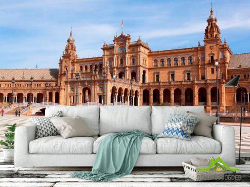 Каталог фотообоев Фотообои Площадь в Испании