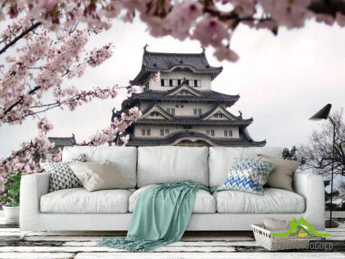 обои Восточный стиль Фотообои Японская пагода