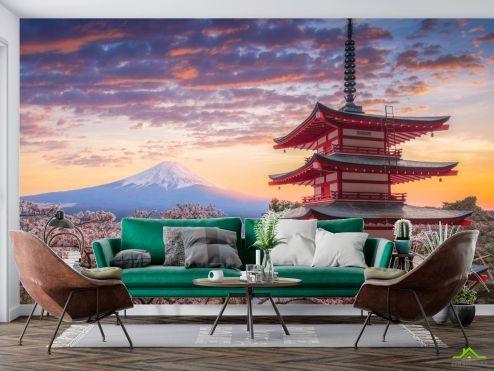 Фотообои Природа по выгодной цене Фотообои горы в Японии